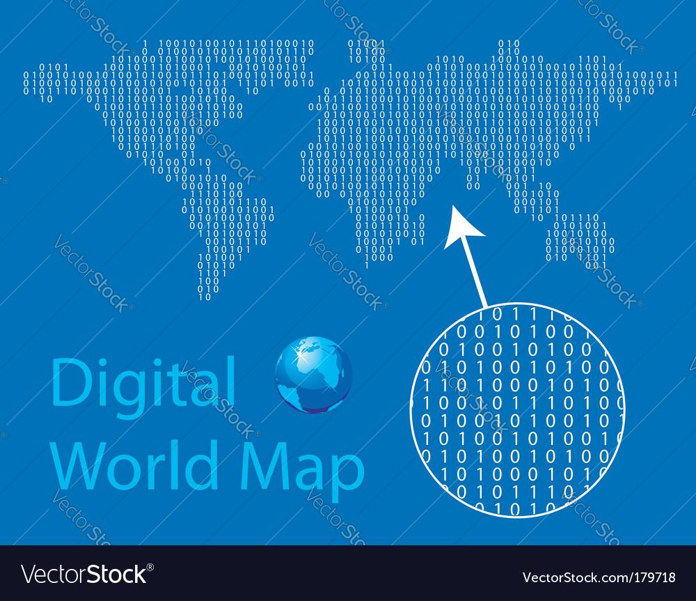 Digital world map royalty free vector image vectorstock digital world map vector image gumiabroncs Images