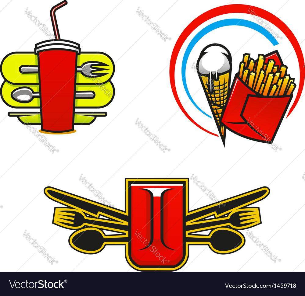 Fast Food Symbols Royalty Free Vector Image Vectorstock