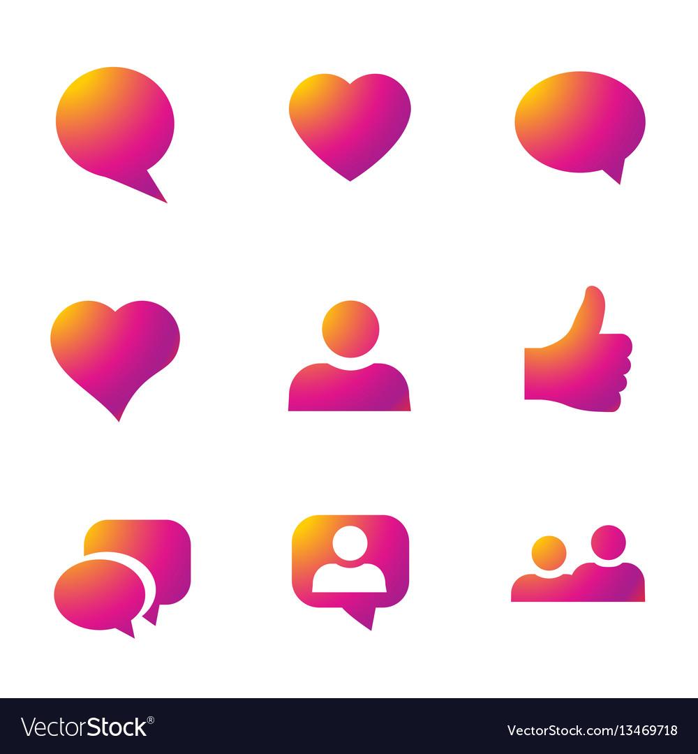 Gradient icon social network