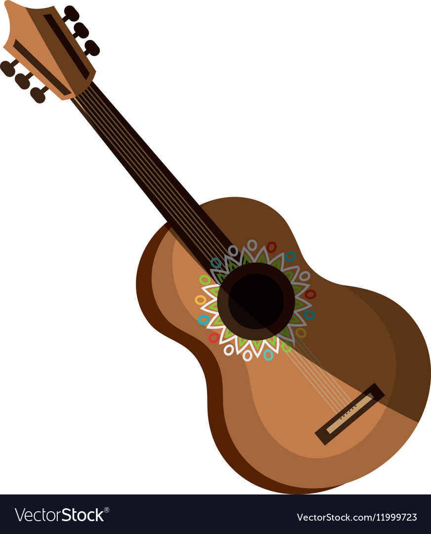 Acoustic guitar isolated icon