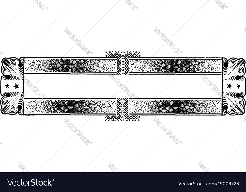 divider with star pattern in a horizontal line vector image rh vectorstock com decorative horizontal line vector Horizontal Line Dividers