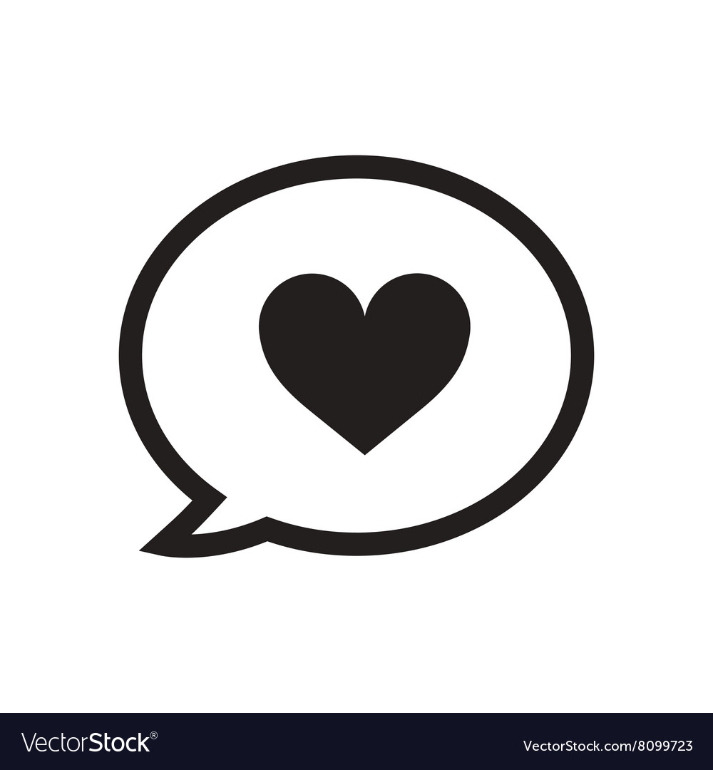 flat icon in black and white love message vector imageBlack N White Love #21