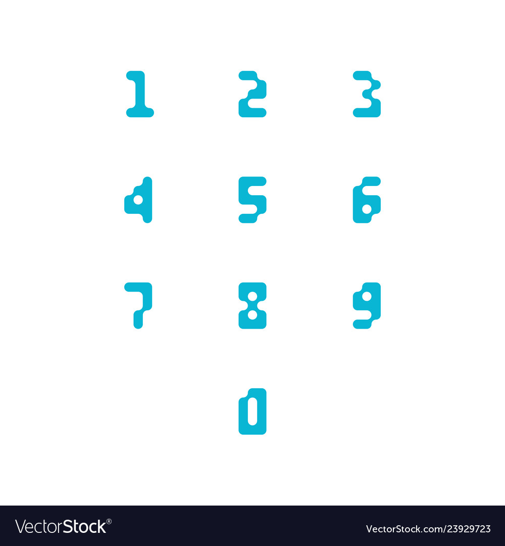 Set of number icons