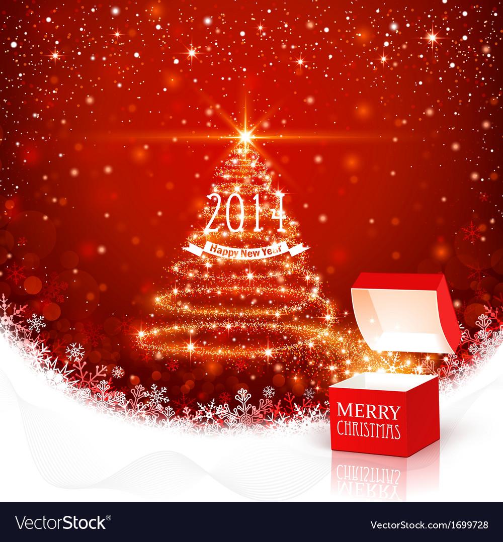 Free Christmas Background.Christmas Background With Magic Box