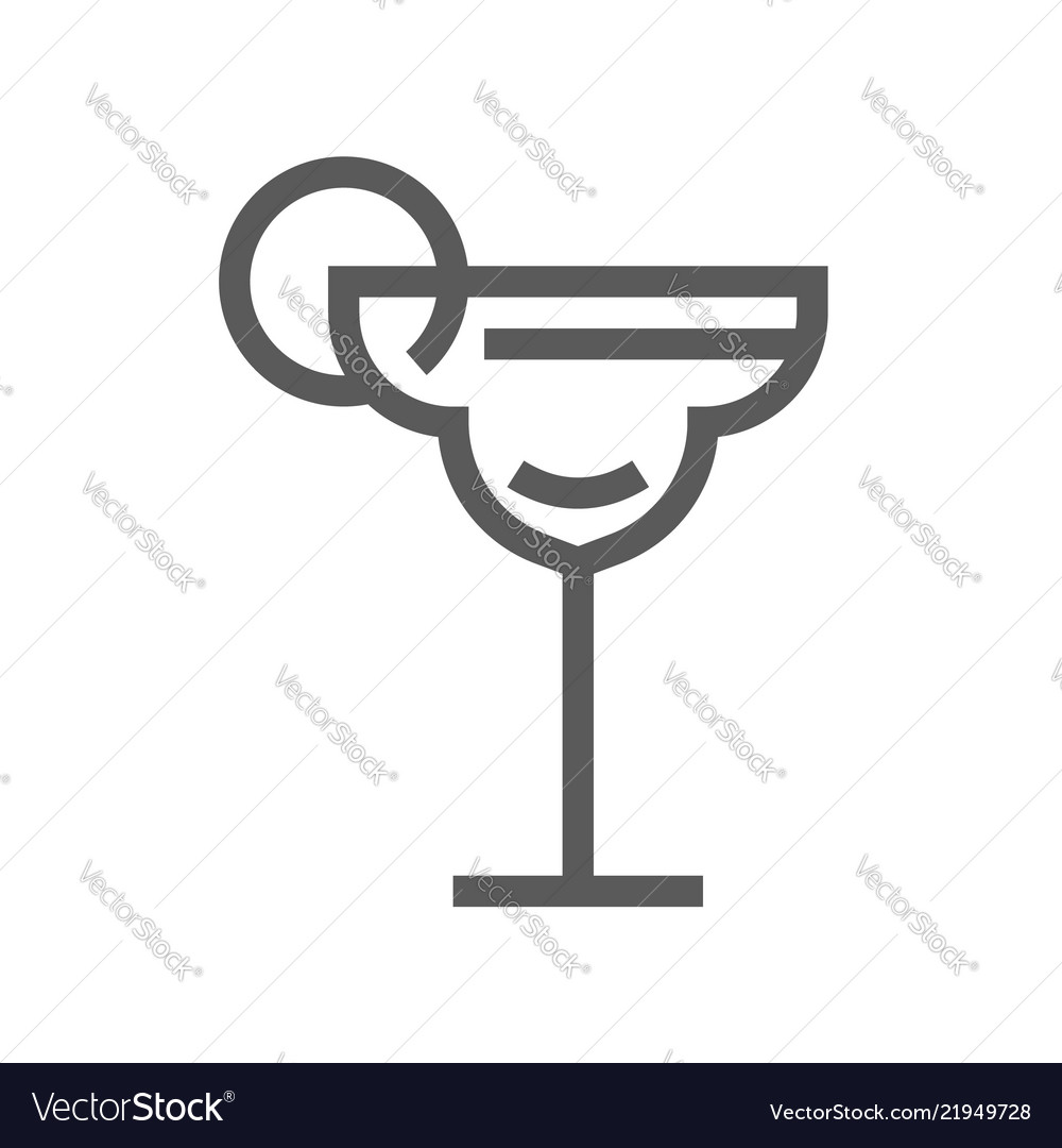 Cocktail drink and beverage line icon