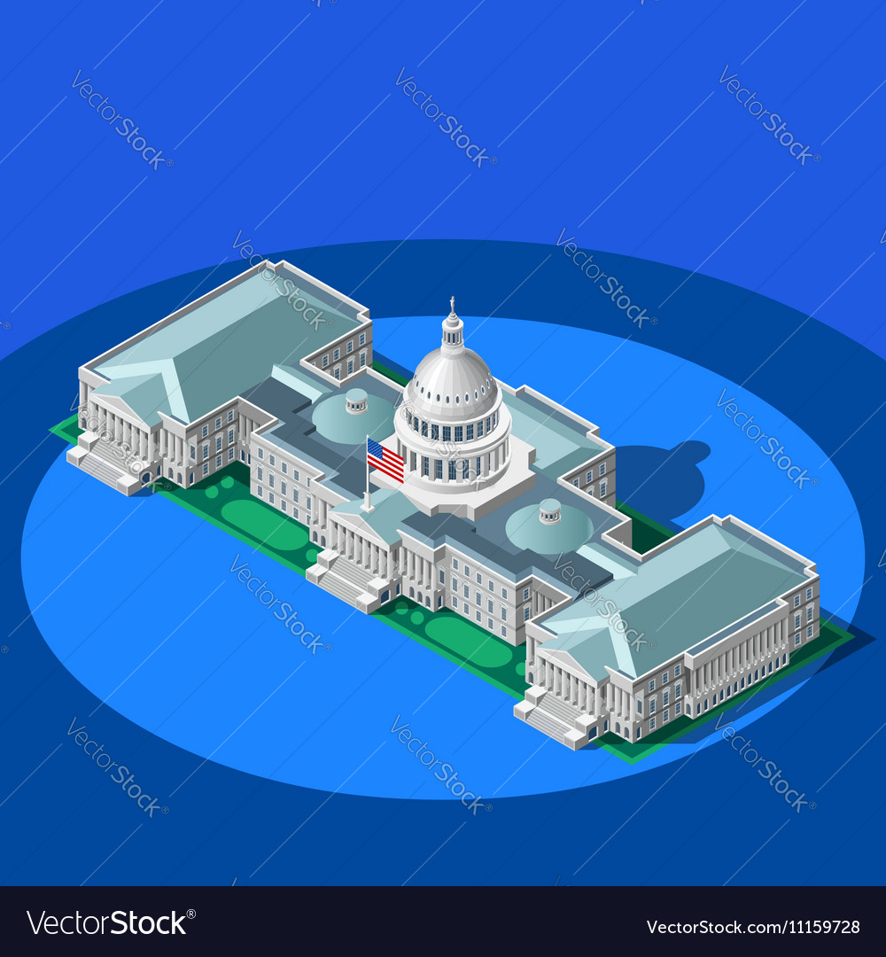 Election Infographic Capitol Dome Isometric
