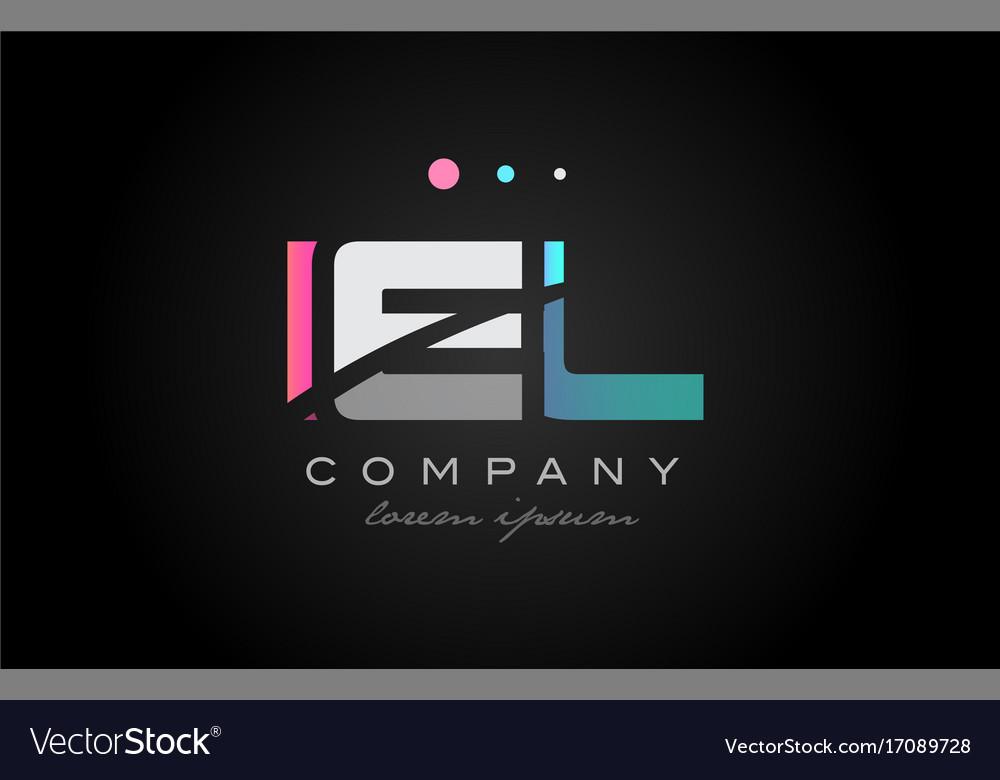 Iel i e l three letter logo icon design
