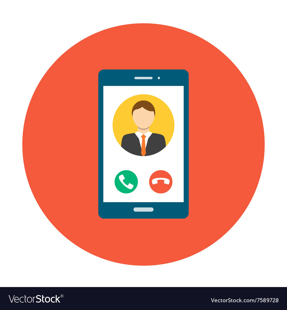 Incoming call on smartphone screen