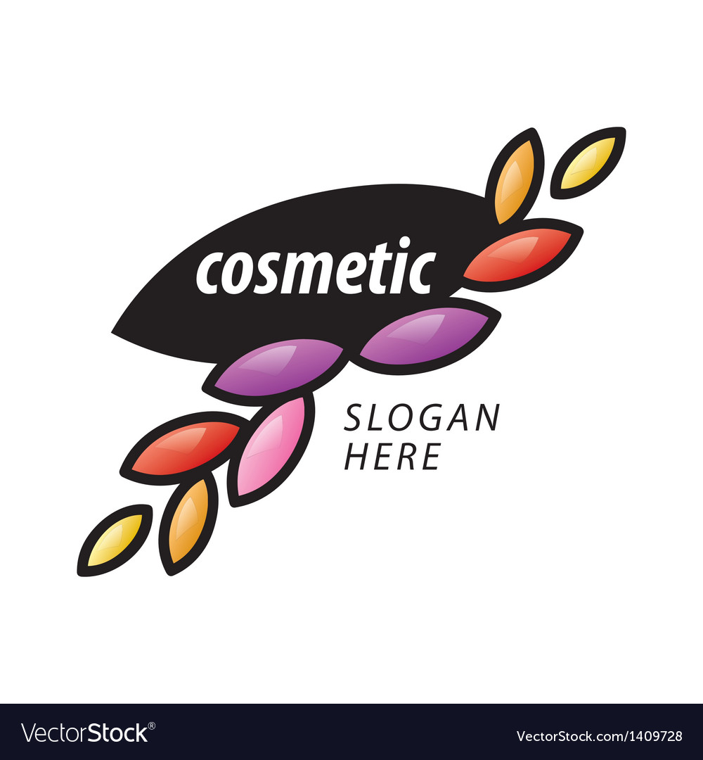 Logo of the petals for cosmetics vector image