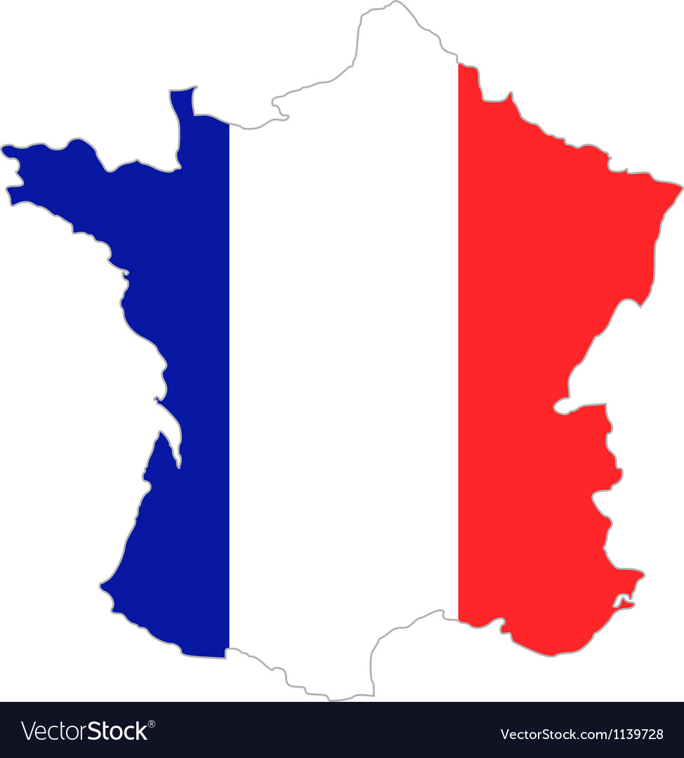 France Map Flag.Map And Flag Of France Royalty Free Vector Image