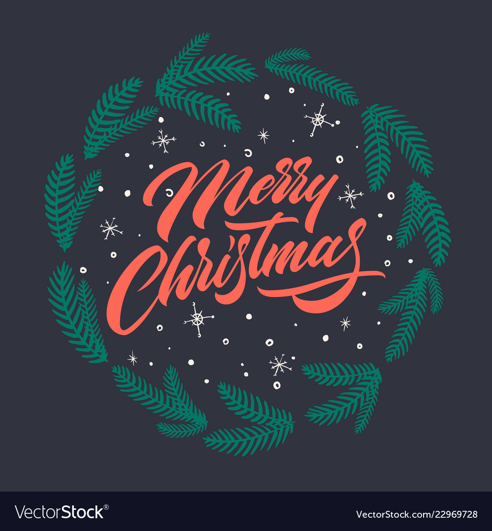 Merry christmas text for greeting cards