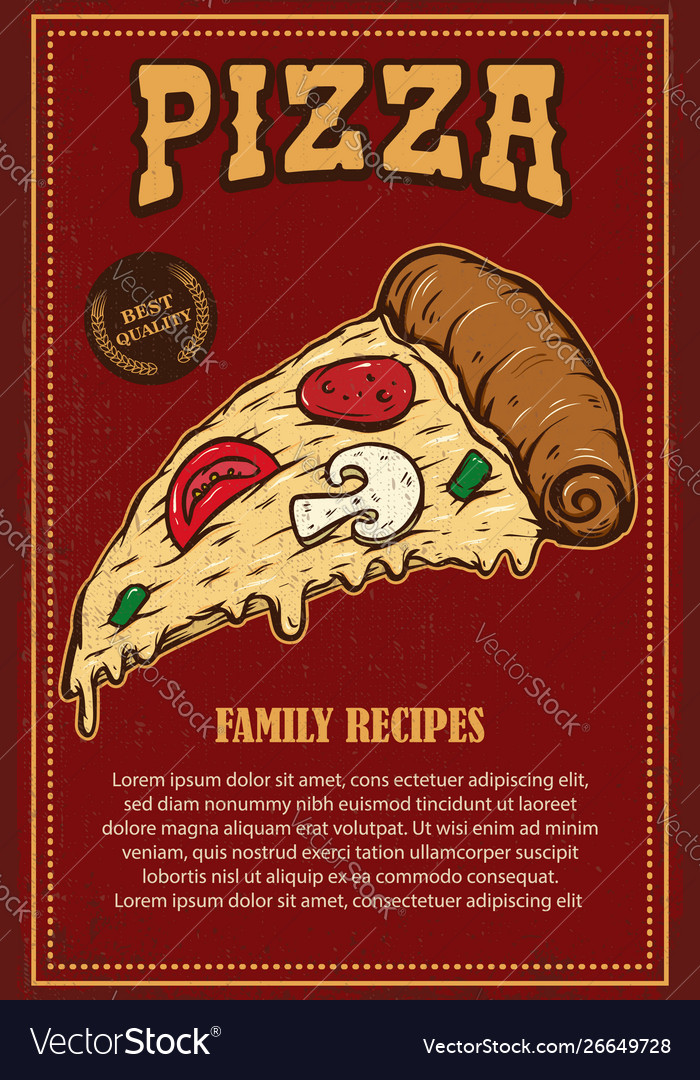 Poster template pizza house italian pizza