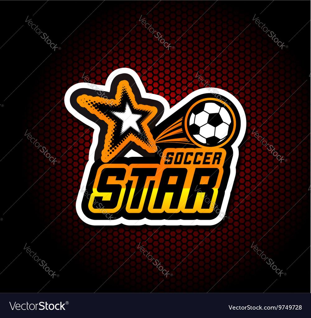 Soccer badge logo template football design