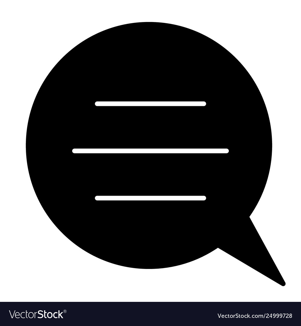 Speech bubble with text solid icon chat