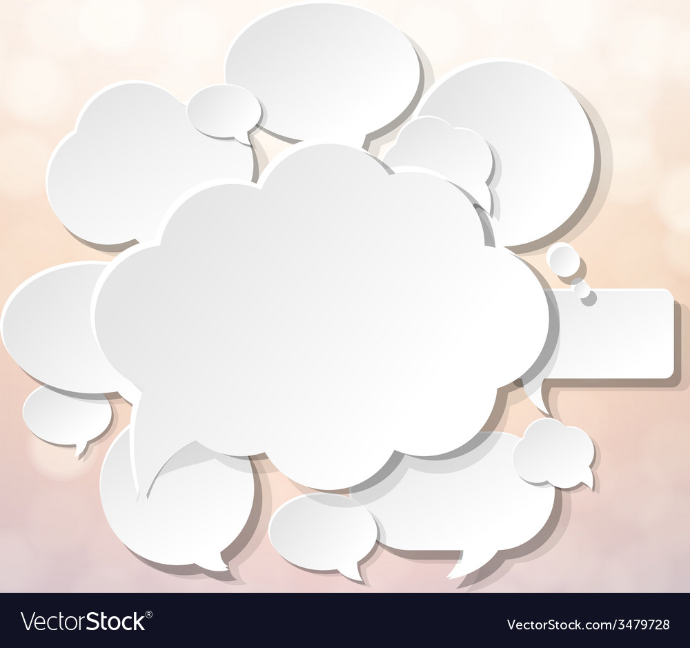 Speech Bubbles With Blur And Bokeh