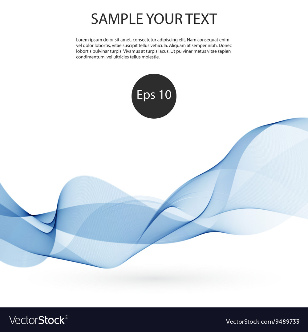 Abstract smooth color wave Curve flow blue
