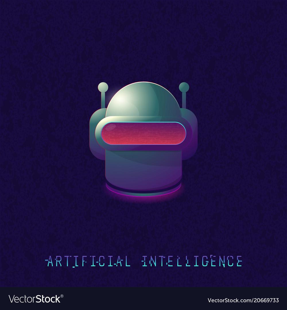 Artificial intelligence classic robot head