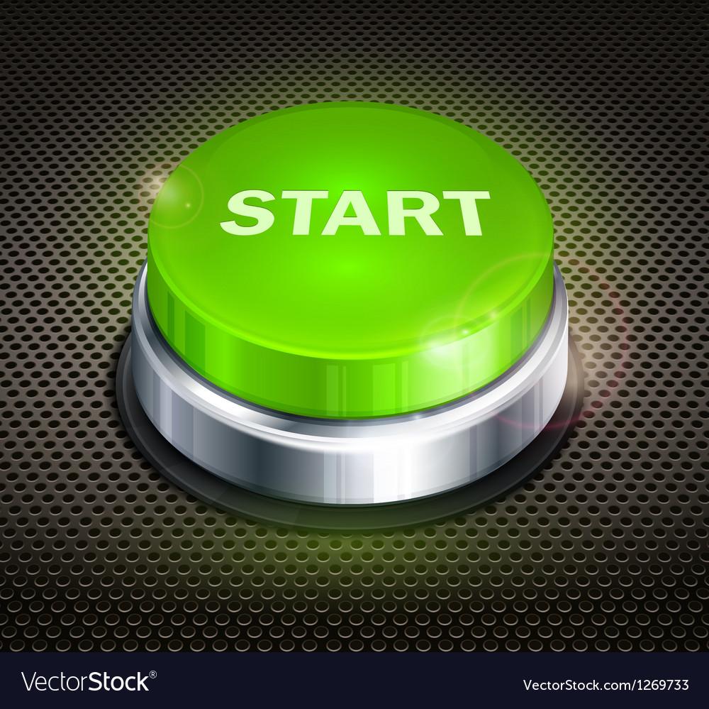 Button start vector image