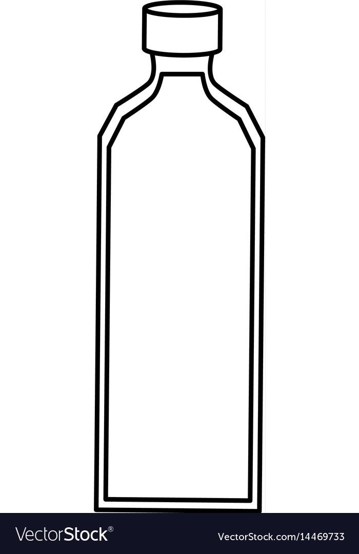 empty plastic bottle royalty free vector image rh vectorstock com bottle vector icon bottle vector illustration