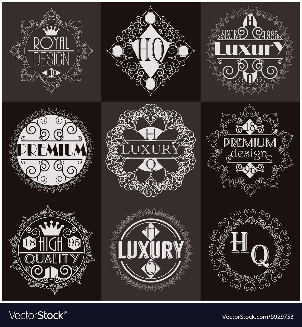 Retro Design Luxury Insignias Logotypes Template
