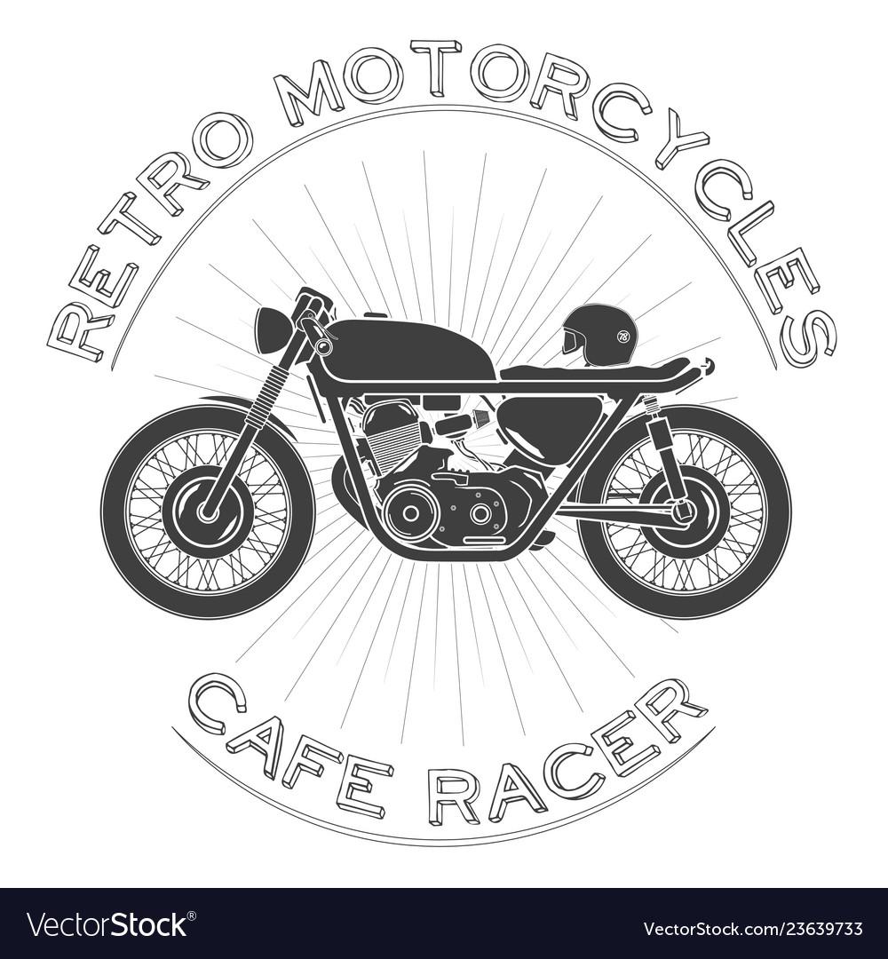 Retro motorcycle caferacer logo