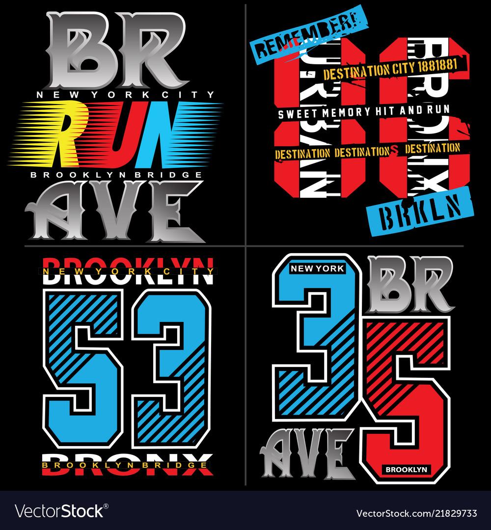 Typography set