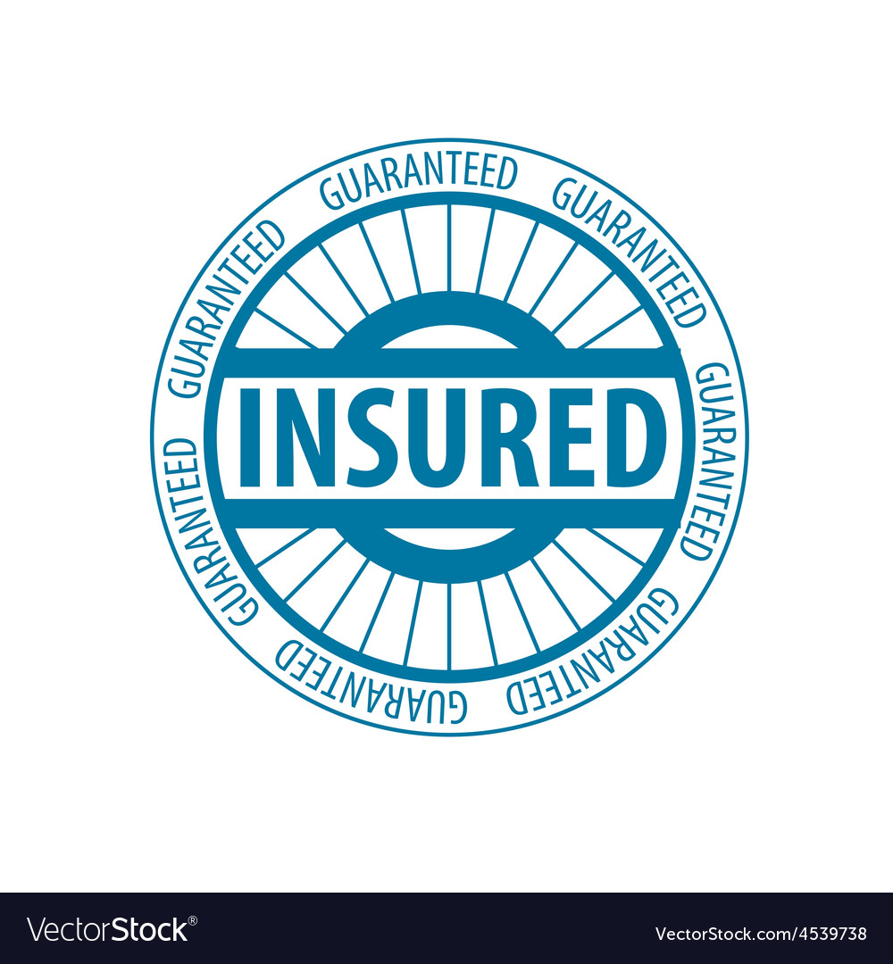 Abstract round logo for insurance