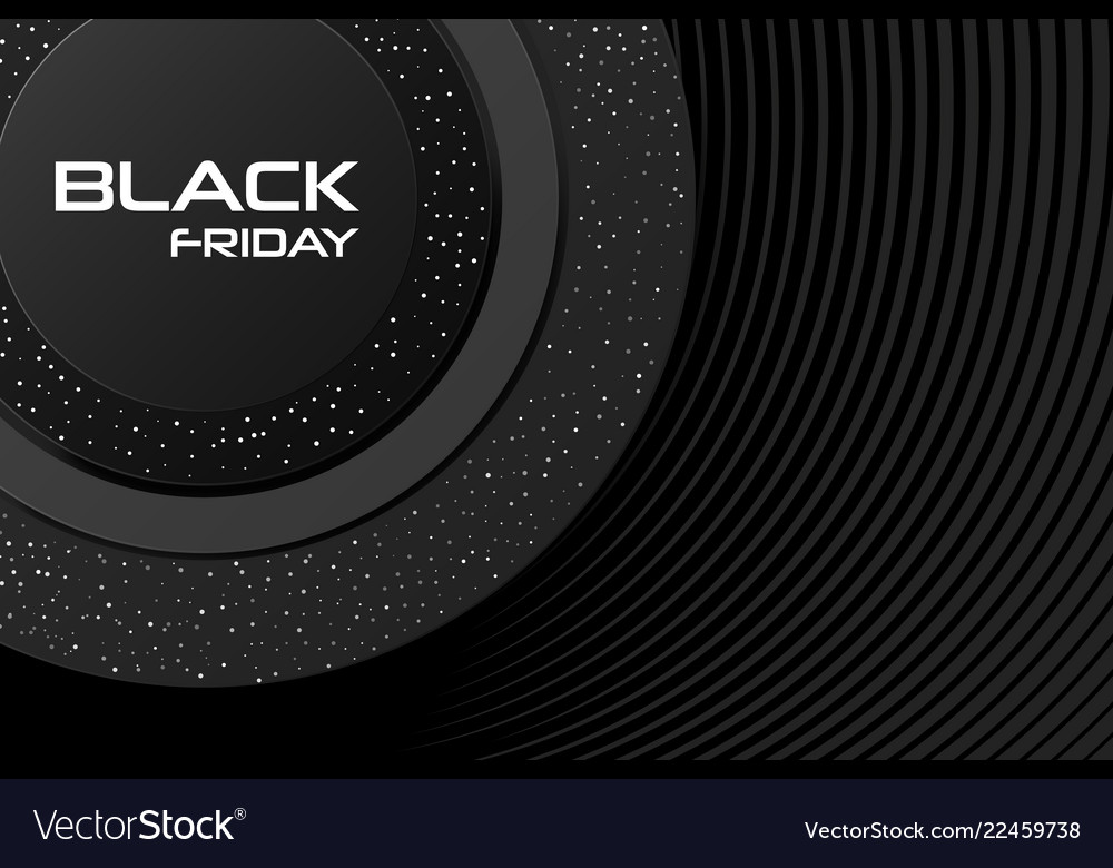 Black friday sale poster commercial discount