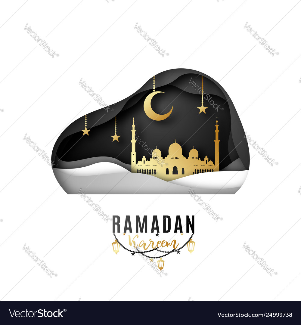 Greeting card design on occasion muslims