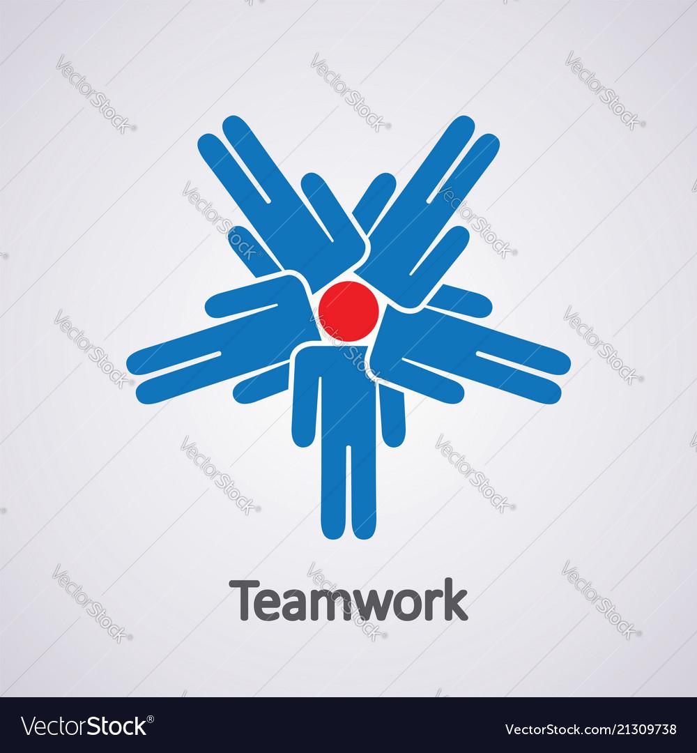 Icon of teamwork concept
