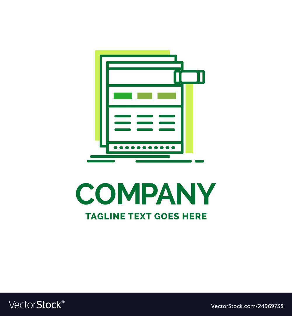 Internet page web webpage wireframe flat business