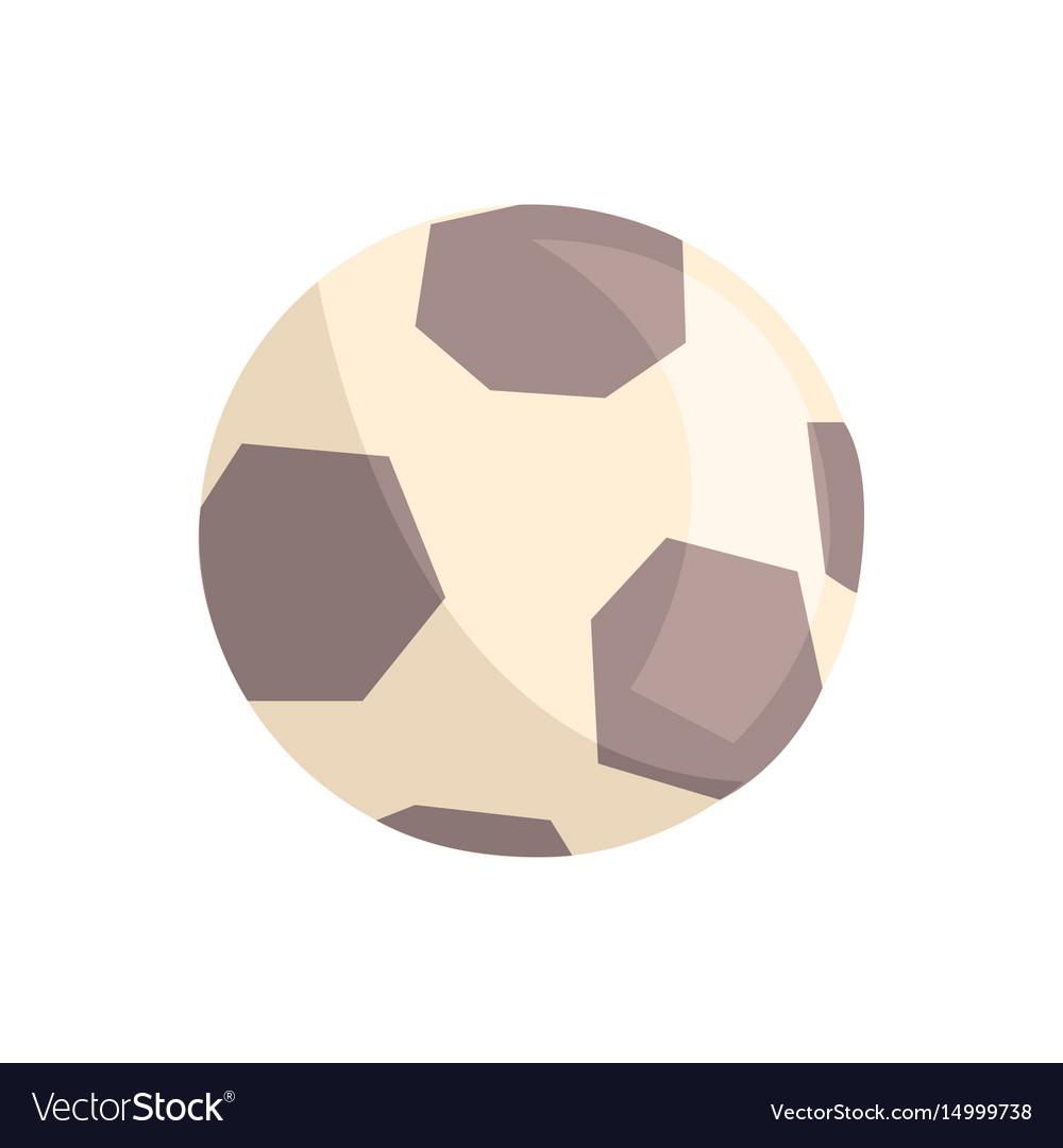 Soccer ball or football ball cartoon vector image