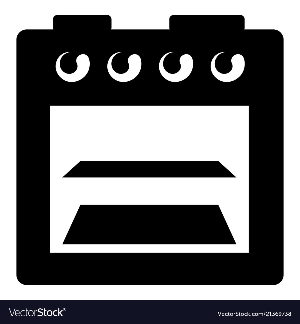 Stove gas icon simple style