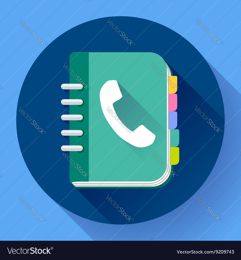 Address phone book icon notebook icon Flat