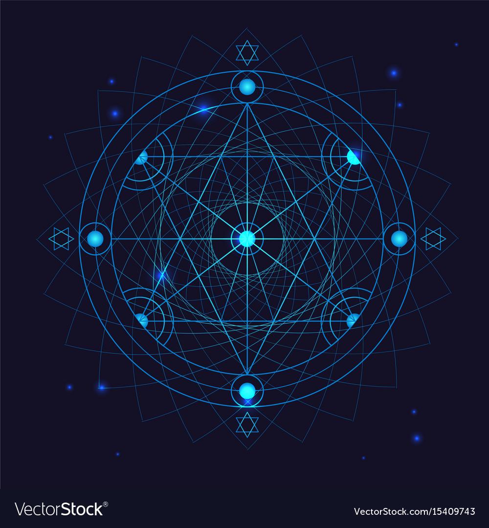 Alchemy geometry symbol thin line
