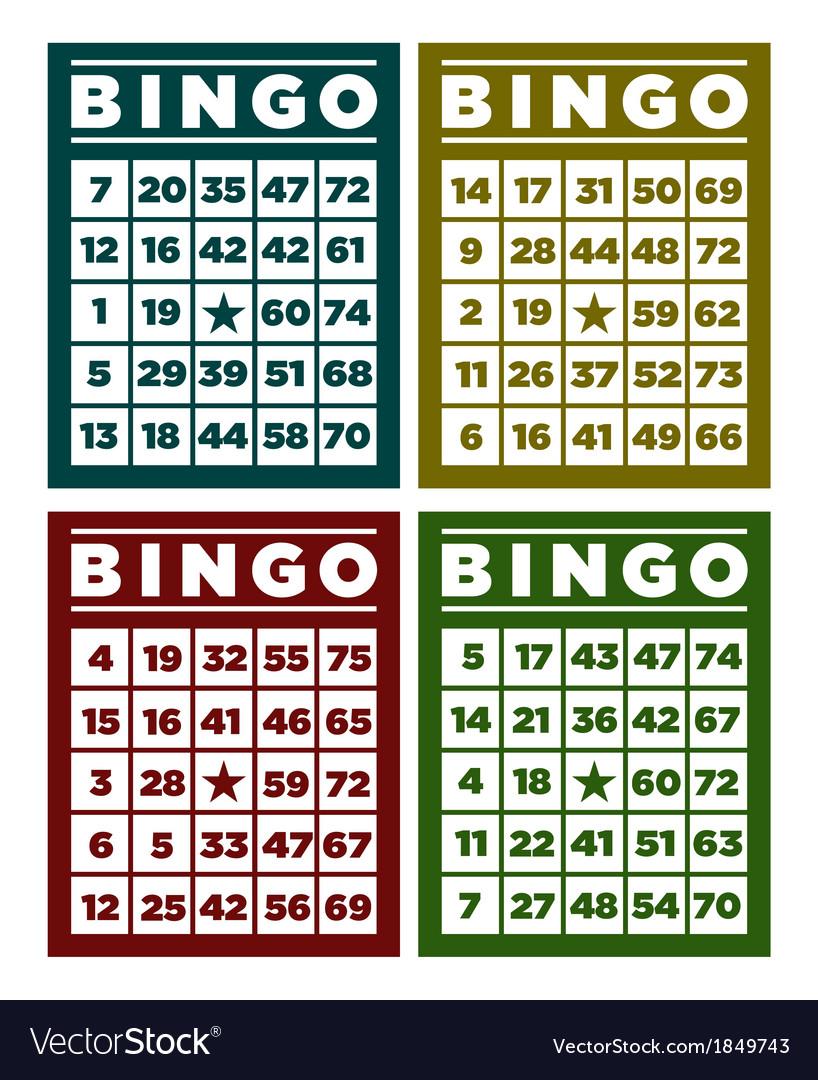 Bingo Retro Cards vector image
