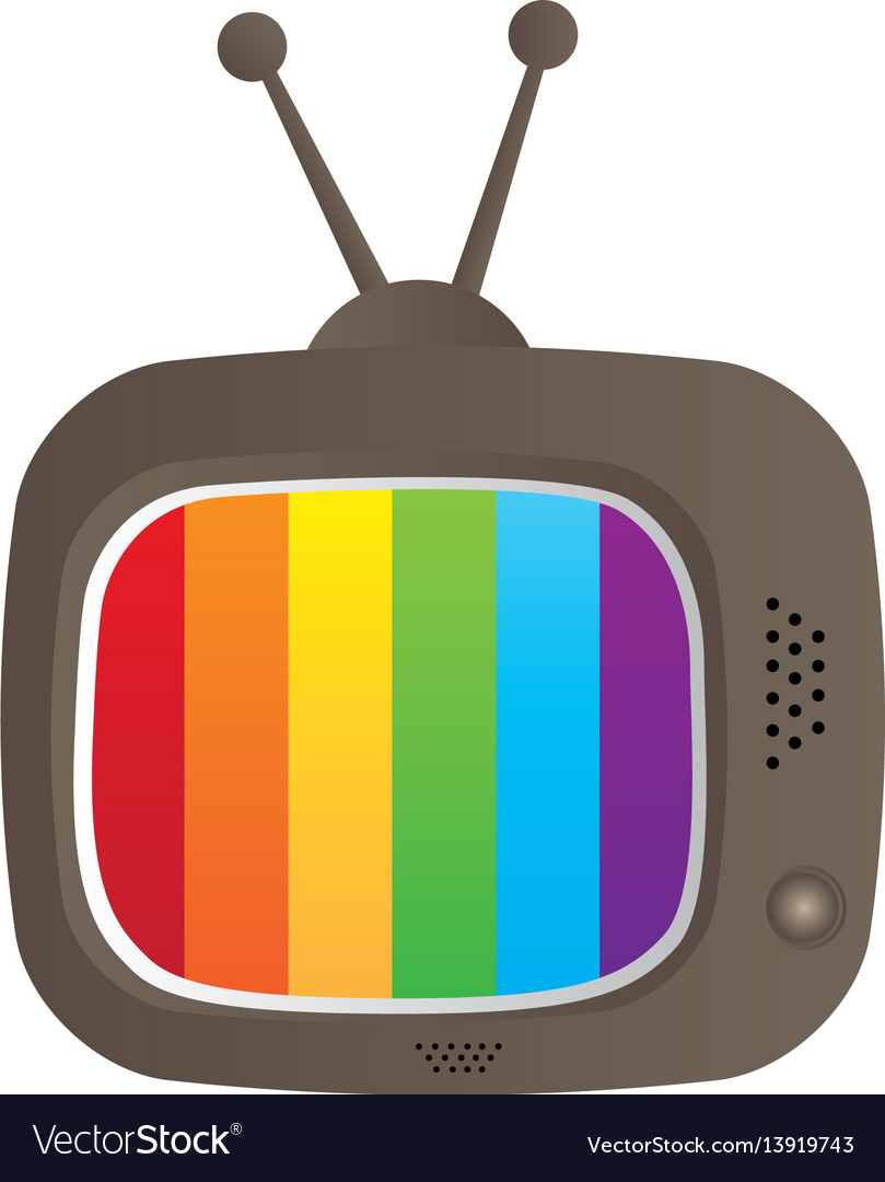 Color background with tv set