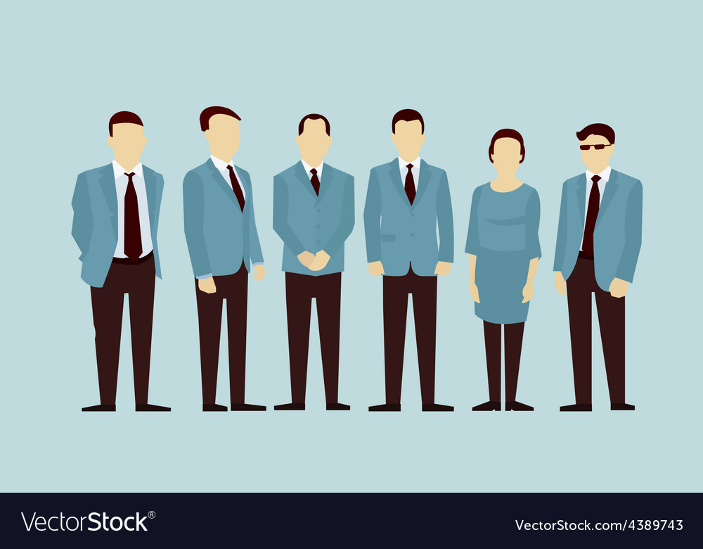 Concept of Group People flat avatars