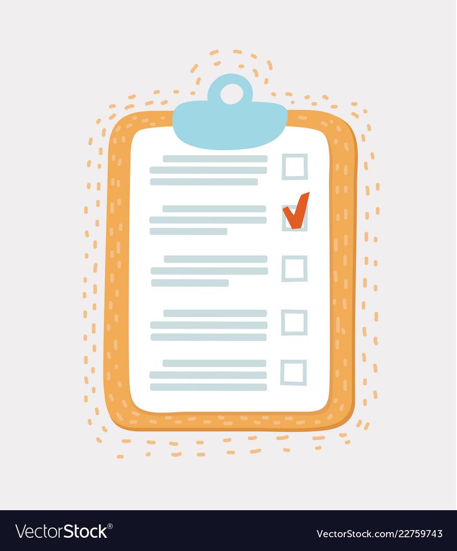 Line icon checklist with mark
