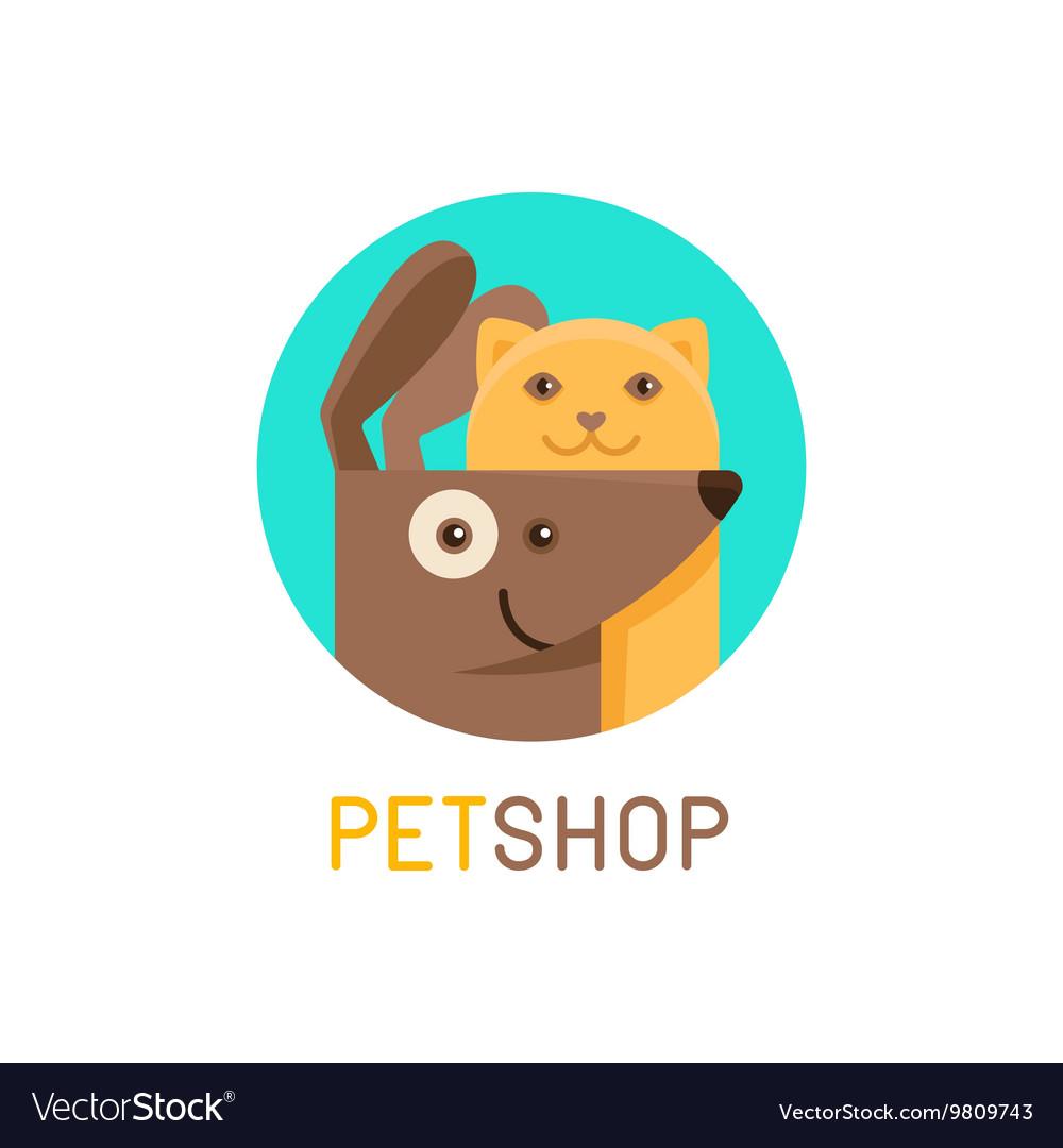 Logo design template for pet shops veterinary vector image