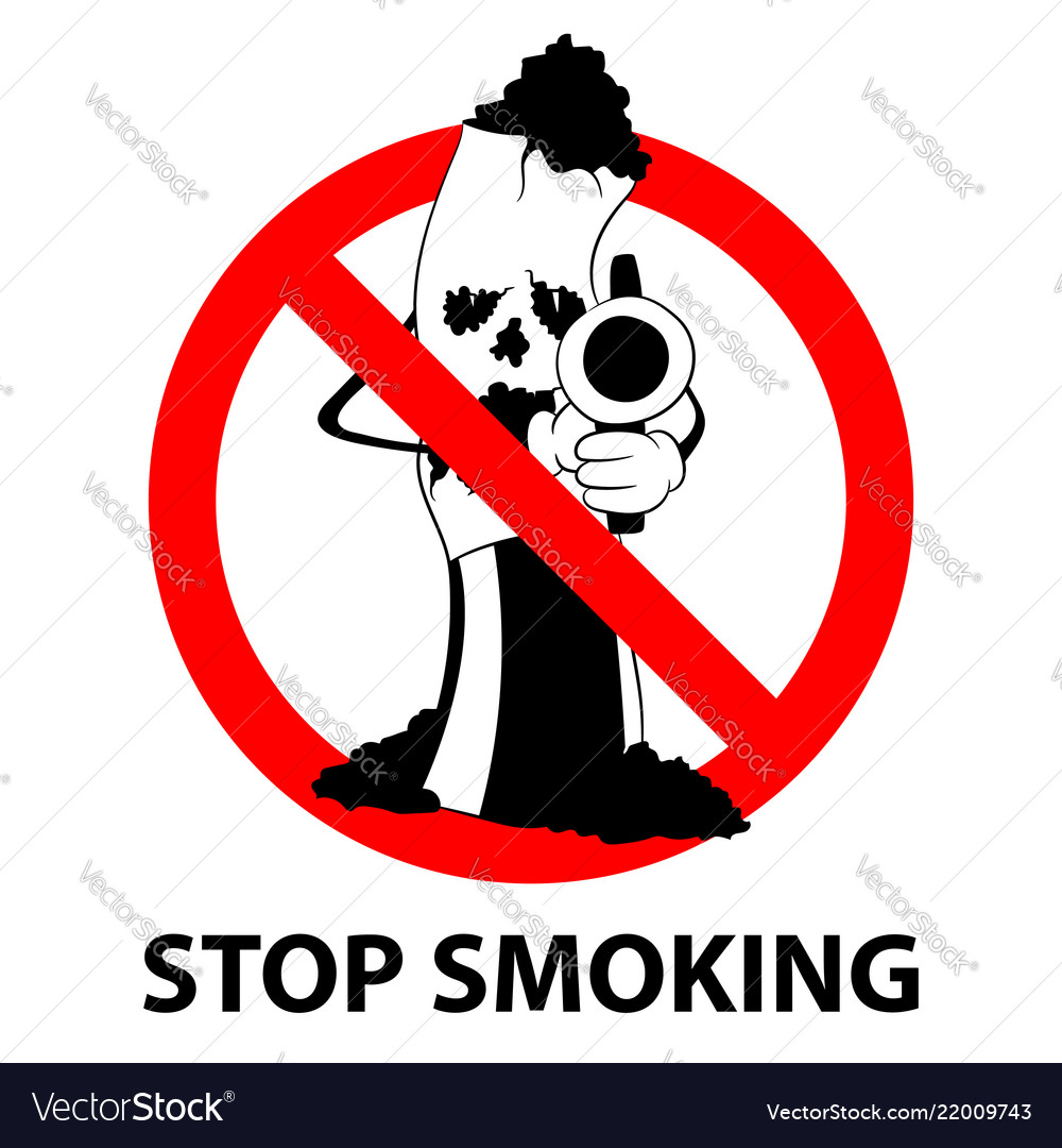Stop smoking no tobacco day prohibition sign