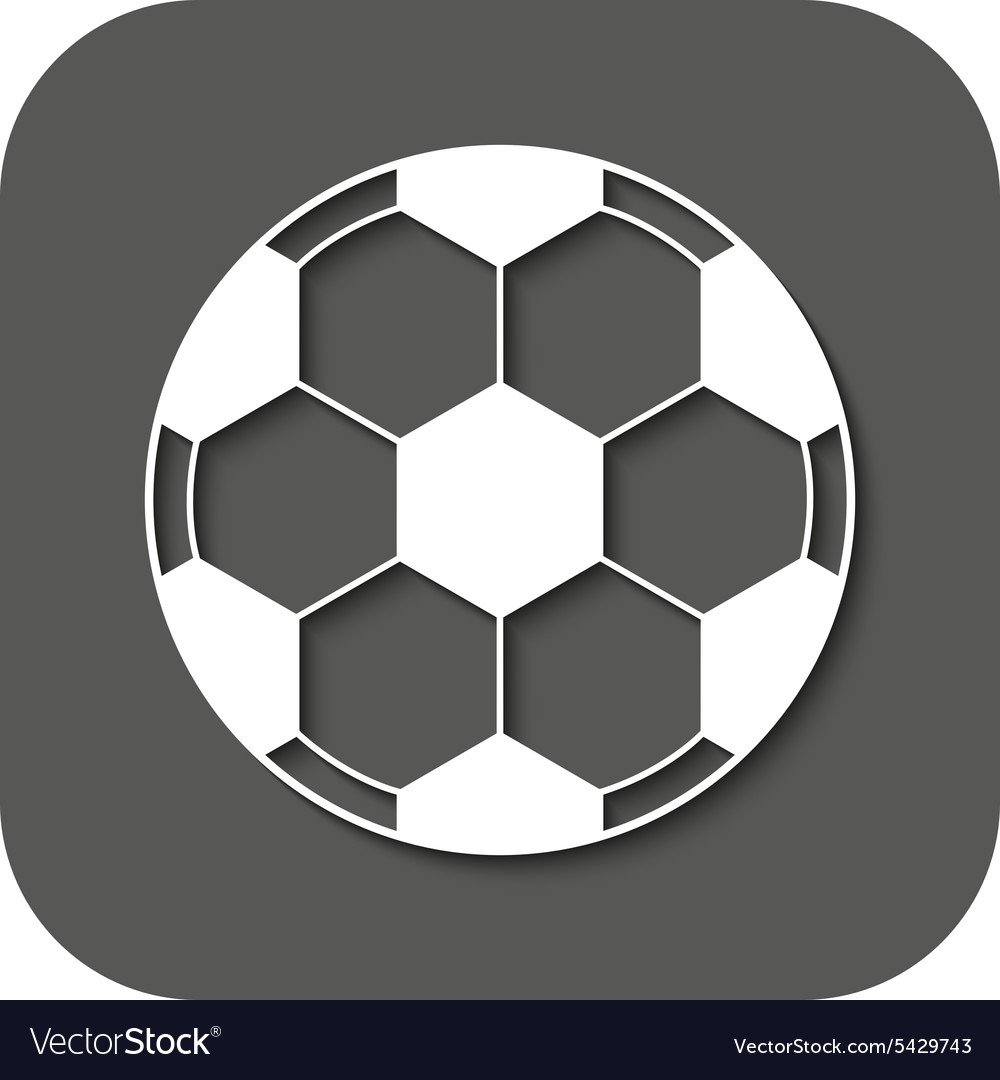 The football icon Soccer symbol Flat
