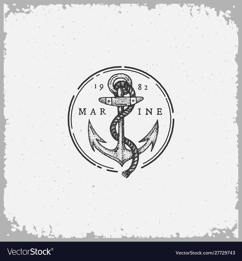 Vintage anchor label