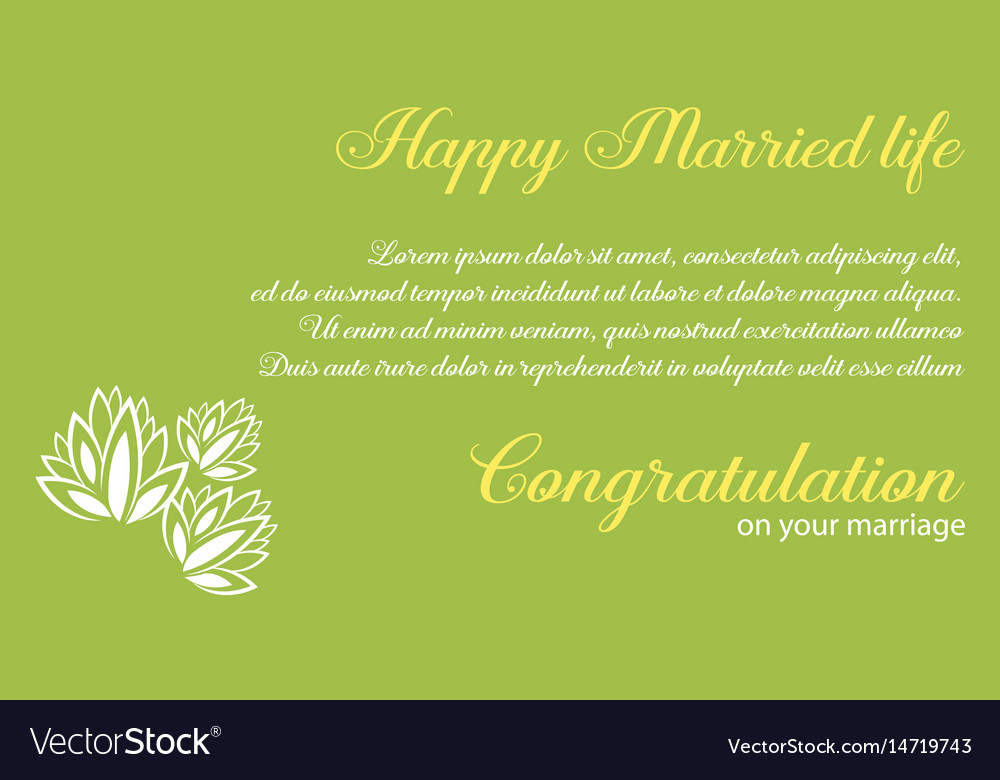 Wedding Invitation With Green Background
