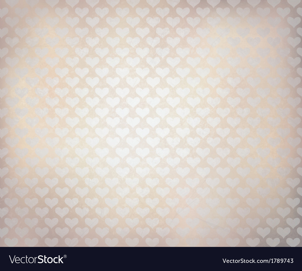 White hearts texture vector image