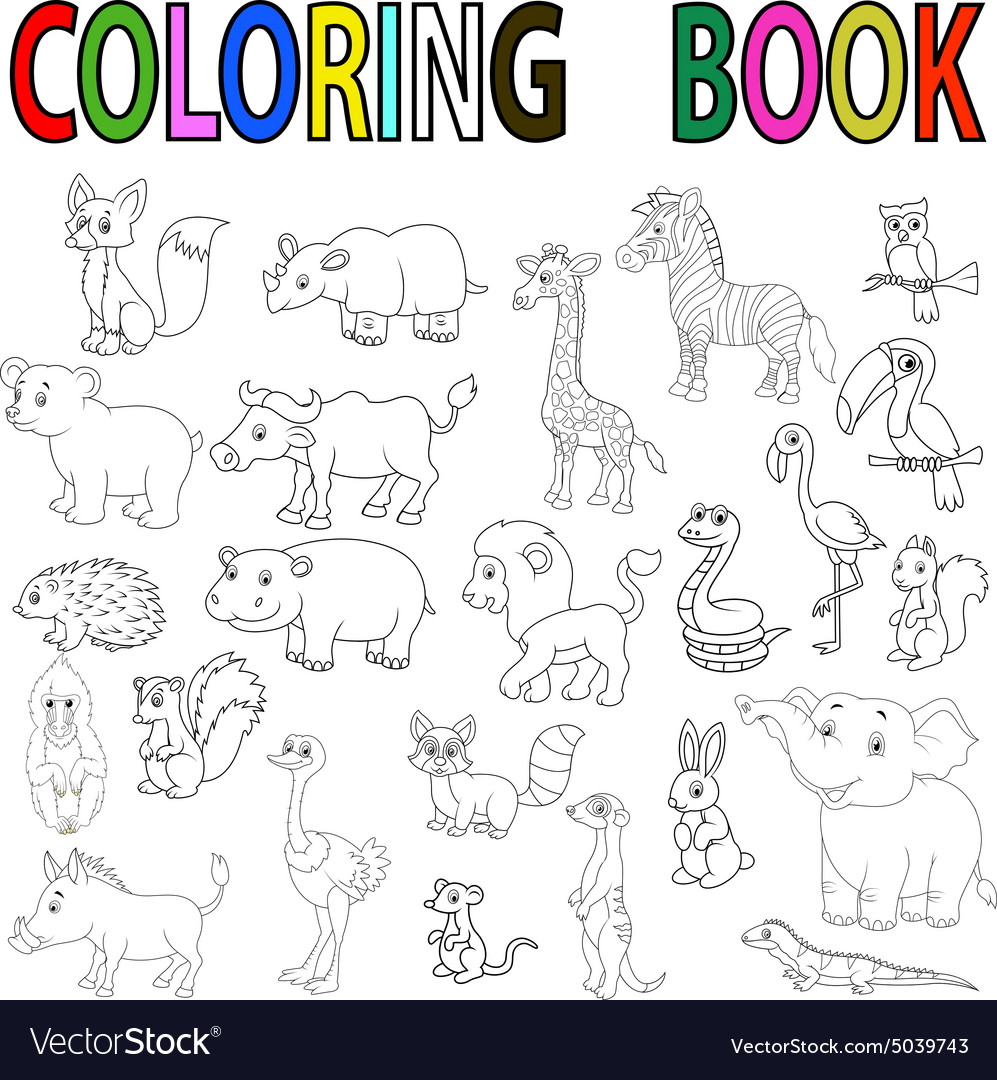 47 Coloring Book Wild Animals Free