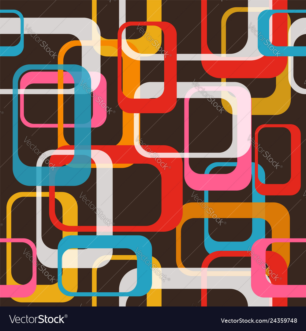 80s happy seamless pattern background