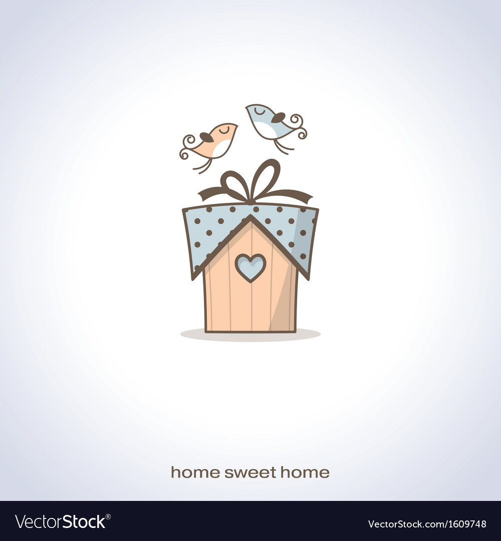 Cute home gift vector image