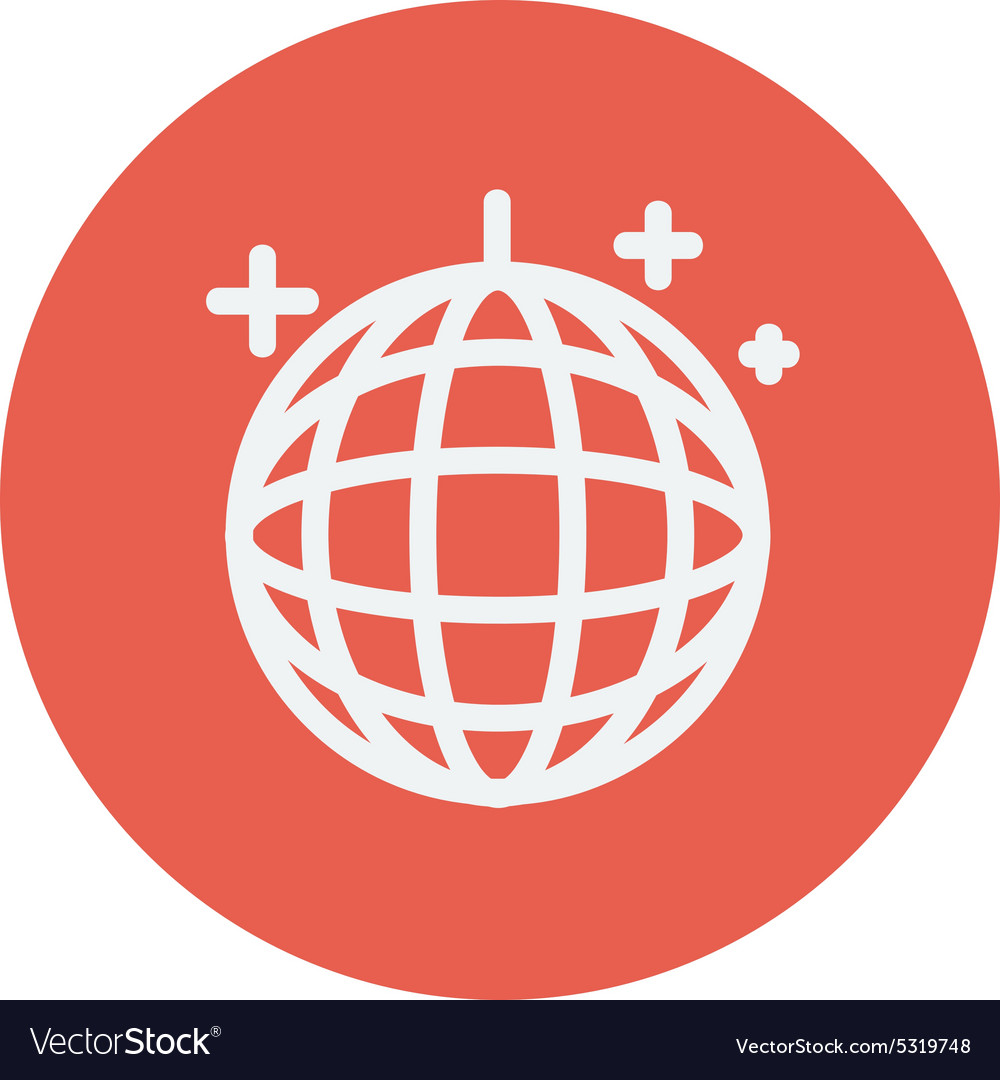 Disco ball thin line icon vector image