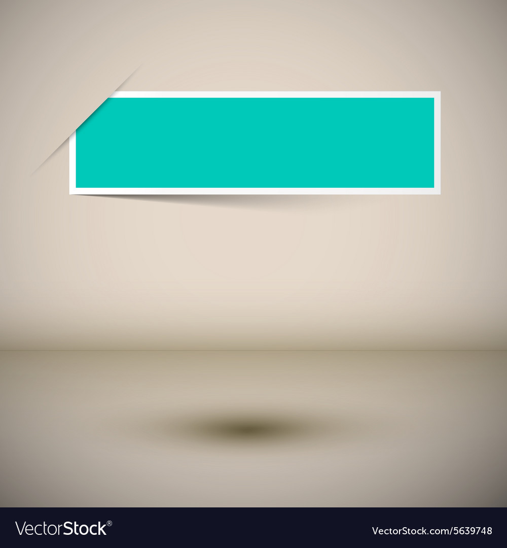 Empty Frame Template - Blue Label on Abstract 3d vector image